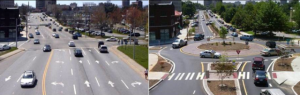 College Street in Asheville Improvements