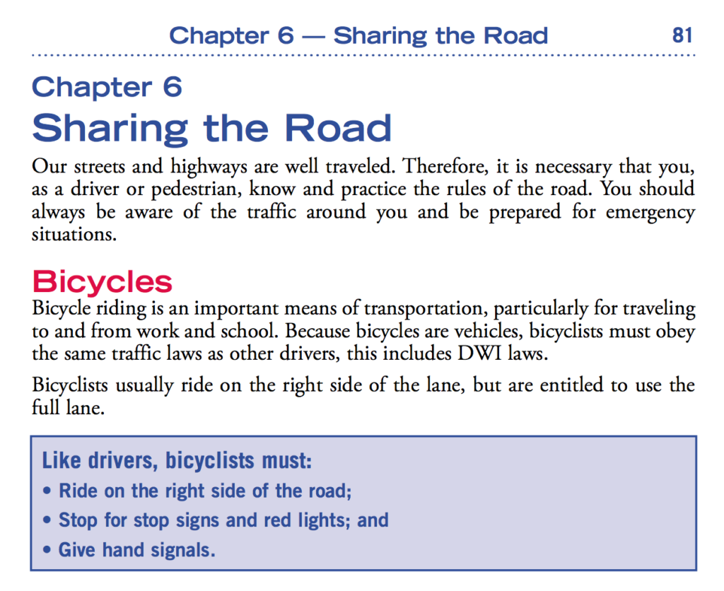 In North Carolina, bicyclists are allowed to use the full lane. North Carolina's Driver Handbook explains it most clearly (Chapter 6, Page 81): Bicyclists usually ride on the right side of the lane, but are entitled to use the full lane.