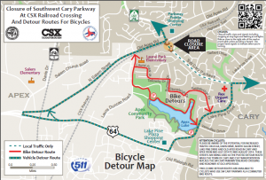 Cary Publishes Bike Detour for Parkway Construction