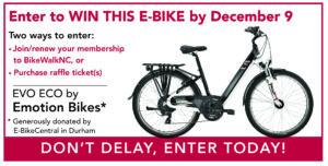eBike Raffle Prize